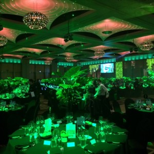 The Crown Palladium was transformed into a jungle for the night